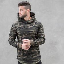 Men Camouflage Hoodies pullover Bodybuilding fitness Sweatshirts sportswear tops