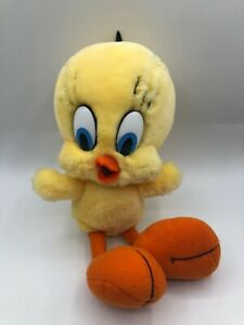 R Dakin Looney Tunes Tweety Bird 1990 Warner Bros Plush Soft Stuffed Toy Animal
