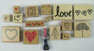 Love Themed Scrapbooking Stamps 16 Total  S243