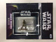 star wars figurine en plomb mace windu n33/60 neuve blister fascicule atlas