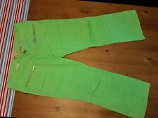 Joy Jeans Bright Lime Green Zipper Pocket Moto Jeans 7