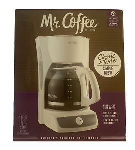 Mr. Coffee 12 Cup Switch Maker, White CG12
