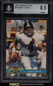 1991 Stadium Club Brett Favre ROOKIE RC #94 BGS 8.5 NM-MT+