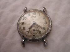 Vintage Zodiac Watch Fond Acier Swiss 15 Jewels Russell Le Brun