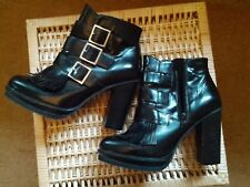 Black leather ankle boots from Asos - size 7