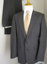 Stafford Suit Gray Pinstripes 38L Made USA Pants 36 X 33 Mens Two Buttons