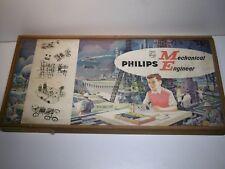 jouet jeux ancien PHILIPS MECHANICAL ENGINEER boite construction électronic