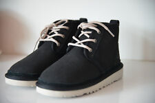 Nuevo Genuino Negro de Piel de oveja UGG neumel Niños Chukka NUBUCK tobillo botas zapatos UK13