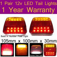 1 pair 12V LED Taillights for forklift, caravans, utes, trucks,Not for Trailers