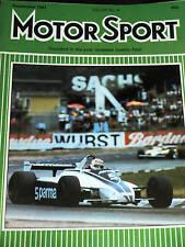 Nelson Piquet Alemán GP 1981 Brabham Lotus Esprit prueba
