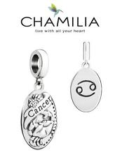 VGC CHAMILIA 925 sterling silver CANCER horoscope dangle charm bead, zodiac