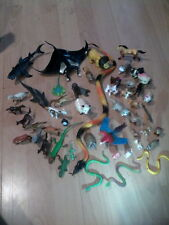Huge Lot Of Animal Figure Toys - Horse Dog Shark Manta Ray Snake Parrot Ect.!