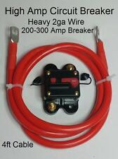 Circuit Breaker 4ft 2ga Winch/ATV/UTV/Tow/Service/Dump Trailer Kit USA Seller