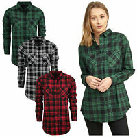 Womens Brave Soul Designer Printed Check Flannel Long Sleeve Lumberjack Shirt