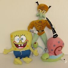 Spongebob Squarepants Gary, SpongeBob & Squidward Flute Hero Soft Toy Bundle