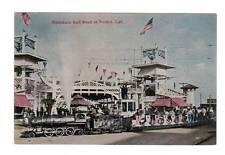 CA - VENICE CALIFORNIA Postcard MINIATURE RAILROAD TRAIN