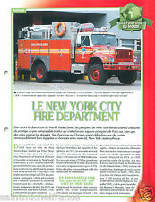 Rescues Squads SOC  New York City Fire Department USA Pompier FICHE FIREFIGHTER