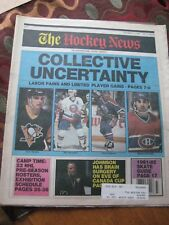 "The Hockey News 1991 ""COLLECTIVE UNCERTAINTY"""