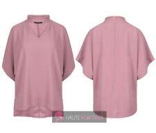 Maglie e camicie da donna rosa senza marca in poliestere