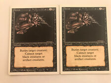 MTG Magic the gathering Sammlung  2x Terror aus Revised
