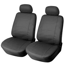 Pro-Tech Brand, Leather-Like Vinyl Car Seat Covers, GS:159F SolidBlack