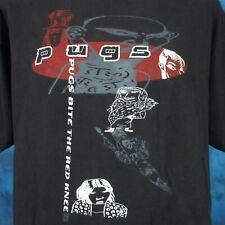 vintage 90s PUGS BITE THE RED KNEE CONCERT T-Shirt XL japanese rock pop tour