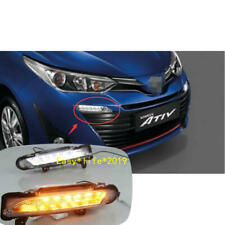 2PCS For Toyota Yaris 2017-2018  LED DRL Daytime Running Driving Light With Turn