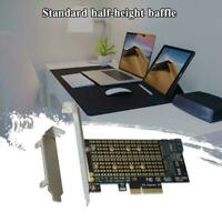 1PC M.2 NGFF to Desktop PCIE x4 NVMe SATA Dual SSD Adapter HOT PCI Express B8K4
