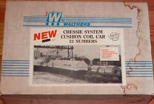 WALTHERS CUSHION COIL CAR KIT 12-PACK CHESSIE SYSTEM 12 NUMBERS LIMITED RUN