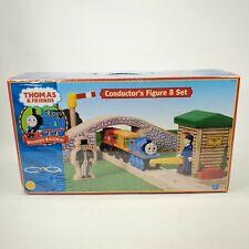 Thomas The Train Wooden Railway CONDUCTORS FIGURE 8 SET, Ltd Edition 2002-NEW