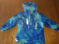 Nwt Girls ZeroXposur Ski Coat Parka w/Headband Snowboard Blue Sky Hooded 5/6 5 6