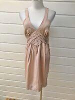 SEED FEMME Blush Pink Sleeveless 100% Silk Knee Length Cocktail Dress - Size 8