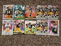 Sterling Sharpe 10 Card Bundle w/ 1989 Topps Rookie Card 1990s RC Sharp Lot