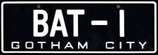 Framed Print - Batman Number License Plate BAT-1 Gotham City (Picture Car Art)