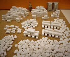 Modellbau, Landschaftsbau Ruinen - Bausteine, Mega Set 600-teilig  20x10x10mm