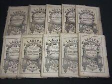1867 LADIES' REPOSITORY LITERATURE & RELIGION MAGAZINE LOT OF 10 - WR 241H