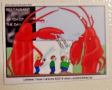 Lobsters catching people in cage case to eat reverse food resturant funny magnet