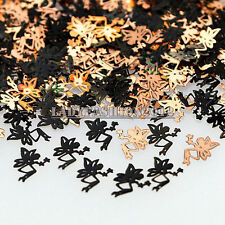 Hot Brone Black Elf with Wings Shape Metal Nail Art Sequins Decals Phone Sticker