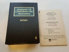 Summary of California Law Ninth Edition Vol 6 Hardcover Book Witkin Pocket Part