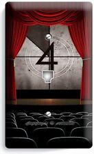 TV ROOM HOME MOVIE THEATER BIG SCREEN PHONE JACK TELEPHONE WALL PLATE COVER ART
