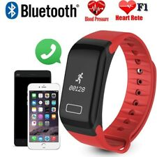 USA F1 Blood Pressure/Oxygen Heart Rate Monitor Smart Watch Band Fitness Tracker