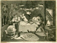 Grabado de Hudibras de Thomas CooK de un grabado de William Hogarth