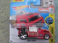 Hot Wheels 2016 #173/250 CRATE RACER red truck HW City works Case K New Model