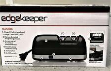 New listing EdgeKeeper 2 Stage Electric Knife Sharpener Diamond Coated Sharpening Wheels New