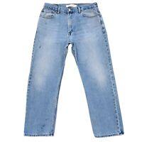 Levi 'S 505 Blau Gerade Regular Enge Jeans Größe W36