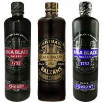Riga Black Balsam Original & Currant & Cherry 3er Set Rigas Melnais balzam