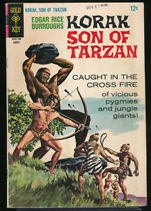 KORAK SON of TARZAN No. 18 1967 Gold Key Comic Book Painted Cover 5.0 VG/FN