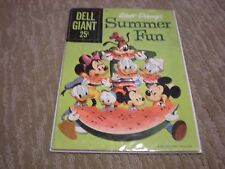 WALT DISNEY'S SUMMER FUN #2 (1959) DELL WATERMELON COVERGIANT-DONALD DUCK