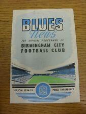 05/02/1955 Birmingham City V Lincoln City (piegato, Token rimosso, le modifiche del team)