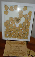 Alternative wedding personalized Guest book special occasions Drop box hearts